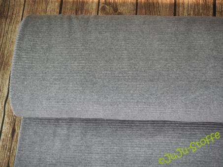 Ripp-Jersey grau meliert