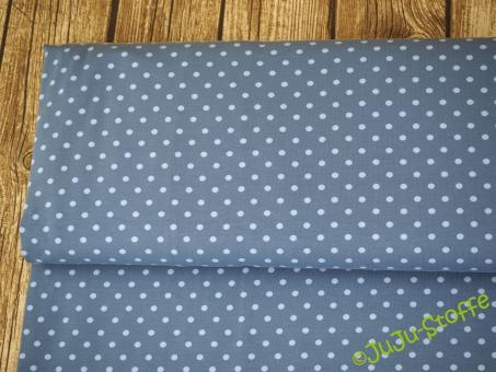 "Jersey ""Twin-Dots"" blau Öko-Tex"
