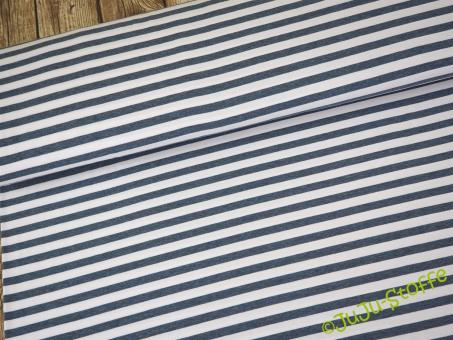 """Jersey """"Streifen melange"""" dunkelblau weiß 1cm Öko-Tex"""