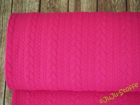 "Zopfstrick ""Jacquard"" pink"