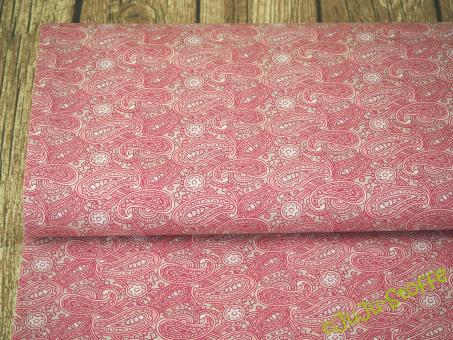 "Baumwolle ""Paisley"" rosa"