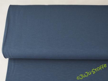 Slub-Jersey dunkelblau uni Öko-Tex