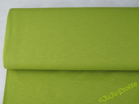 Slub-Jersey grün uni Öko-Tex