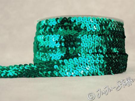 "Pailettenband ""Stretch"" emerald 30mm"