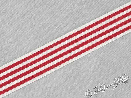 """Gurtband """"Streifen"""" rot 40mm"""