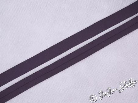 """Einfaßband """"Jersey"""" aubergine 20mm, 3m Öko-Tex"""