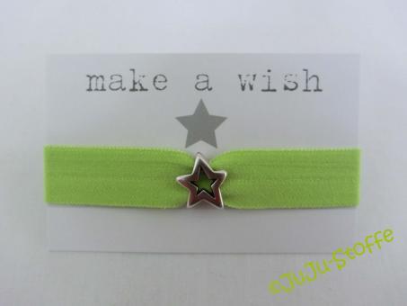 "Wunscharmband ""make a wish"" lime"
