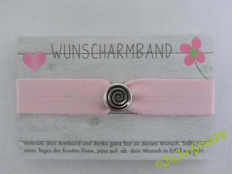 "Wunscharmband ""Spirale"" rosa"