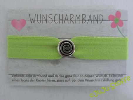 "Wunscharmband ""Spirale"" lime"