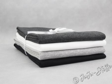 """Bündchen-Paket """"Black & White"""" 4m Öko-Tex"""
