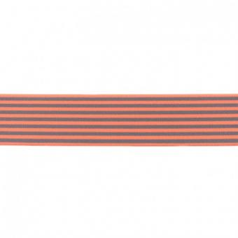Gummi weich Streifen lachs 40mm