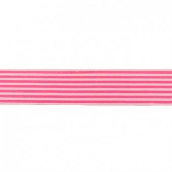 Gummi weich Streifen pink 40mm