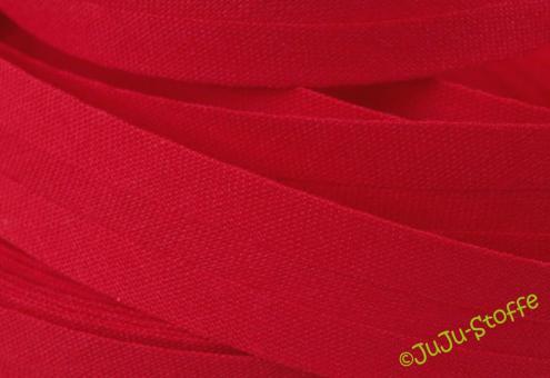 Schrägband Baumwolle 3m rot