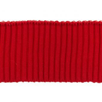 Bündchen Ripp-Cuff rot