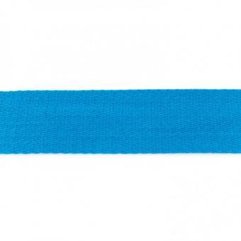 Gurtband Baumwolle aqua 40 mm