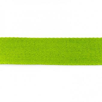 Gurtband Baumwolle lime 40 mm