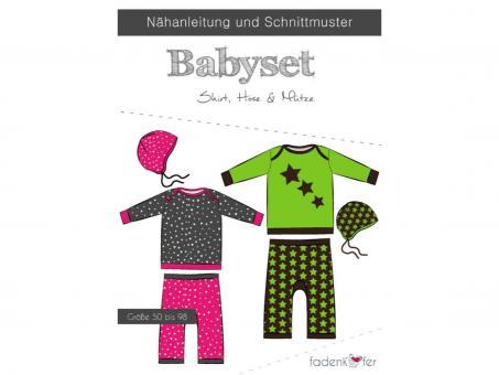 Papierschnittmuster Babyset, Shirt, Hose & Mütze