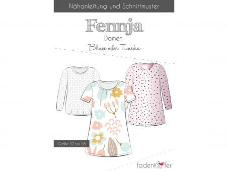 Papierschnittmuster Fennja Damen, Bluse oder Tunika