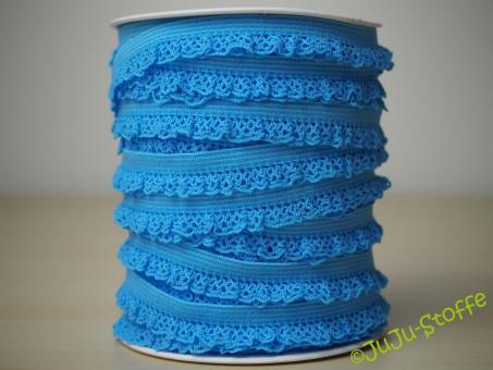 Wäschegummi elastisch mit Spitze himmelblau