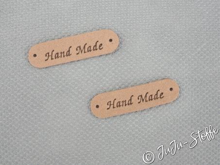 "Patches ""Hand Made"" Wildlederimitat nude"