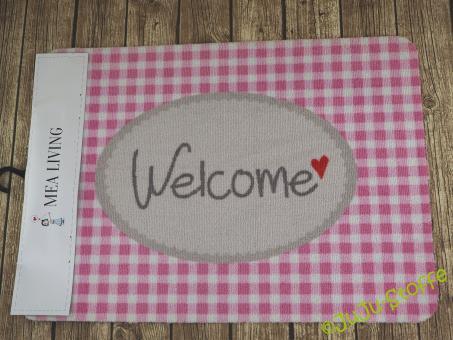 """Fußmatte Gummi """"Welcome"""" Öko-Tex"""