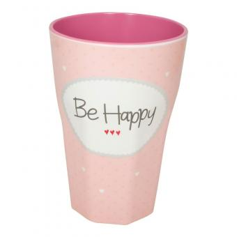 "Becher Melamin ""Be happy"" 450ml"