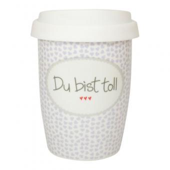 """Becher Coffee to Go """"Du bist toll"""" 250ml"""