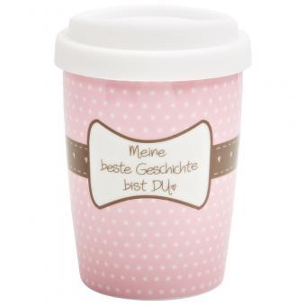 """Becher Coffee to Go """"Meine beste Geschichte bist Du"""" 250ml"""
