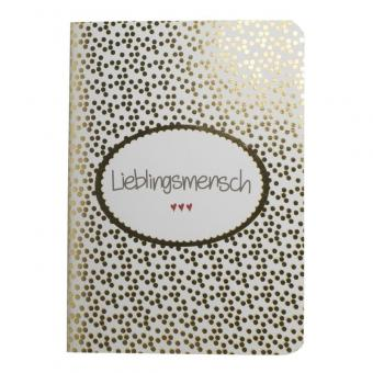 """Notizbuch """"Lieblingsmensch"""""""