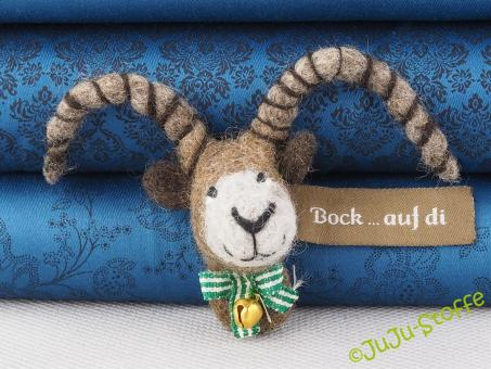 "Filz-Anstecker ""Bock... auf di"""