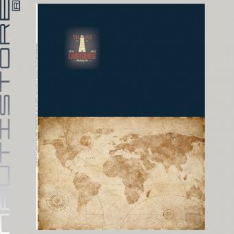 """French Terry Panel """"The old Lighthouse"""" von Nautistore"""