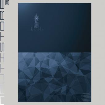 "French Terry Panel ""Magic Light"" blau von Nautistore"