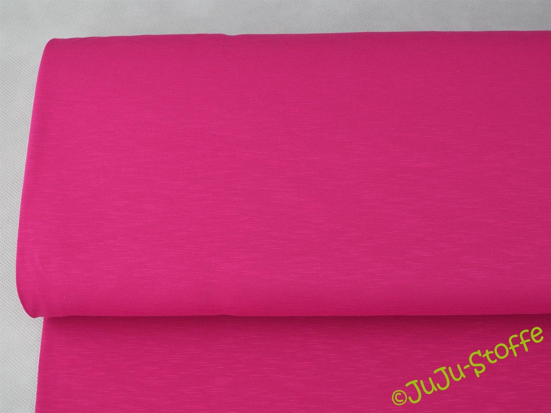 Jersey Slub Jersey einfarbig pink 1,5m Breite