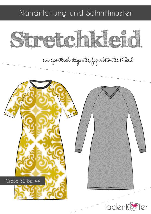 Papierschnittmuster Stretchkleid Stretchkleid Papierschnittmuster Papierschnittmuster Damen Damen Damen Stretchkleid fg76bvYy