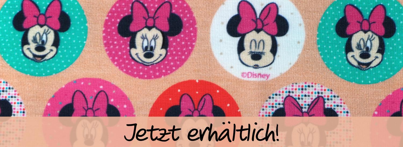 """Jetzt erhältlich: Jersey """"Minnie"""" von Disney (Öko-Tex)"""