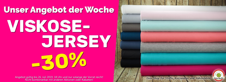 Angebot der Woche 30/2019 - 30% Rabatt auf Viskose-Jersey