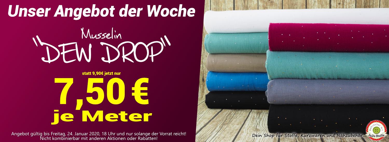 """Angebot der Woche 03/2020 - Musselin """"Dew Drop"""" nur 7,50€/m"""