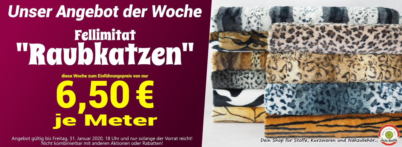 """Angebot der Woche 04/2020 - Fellimitat """"Raubkatzen"""" nur 6,50€/m"""
